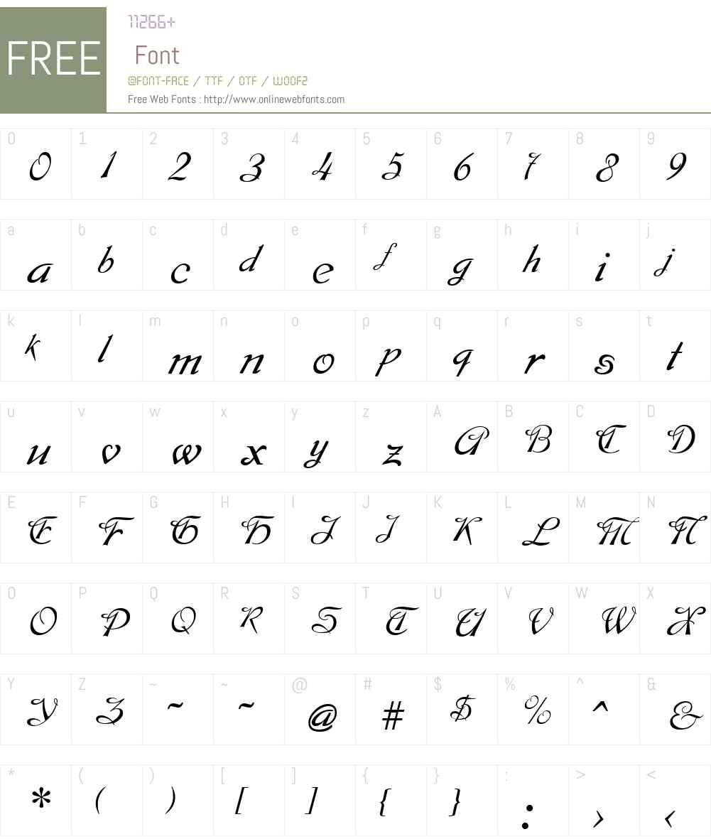 Montague Font Screenshots