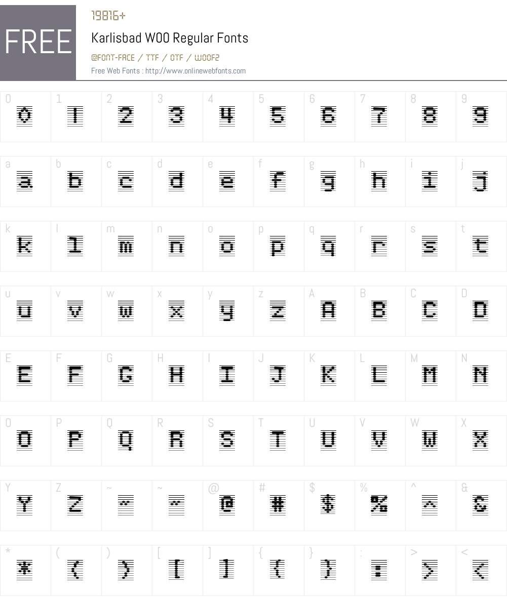 KarlisbadW00-Regular Font Screenshots