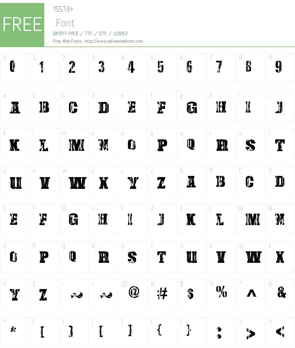 Damaged Serif Font Screenshots