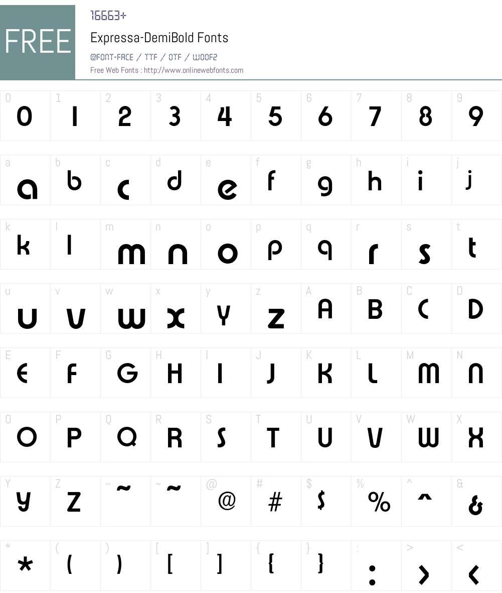 Expressa-DemiBold Font Screenshots