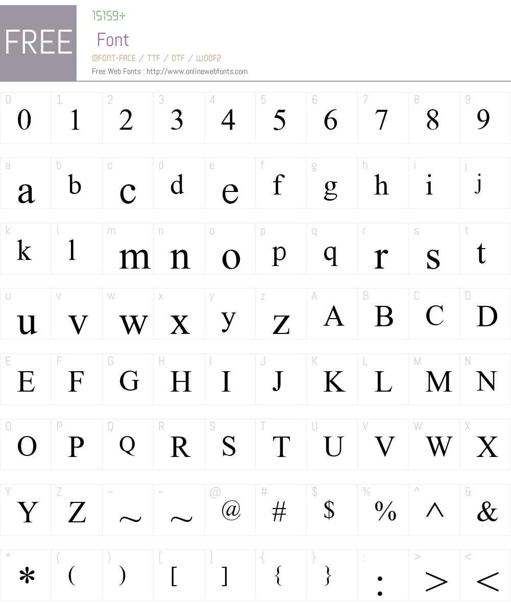 WP Standard Serif Font Screenshots