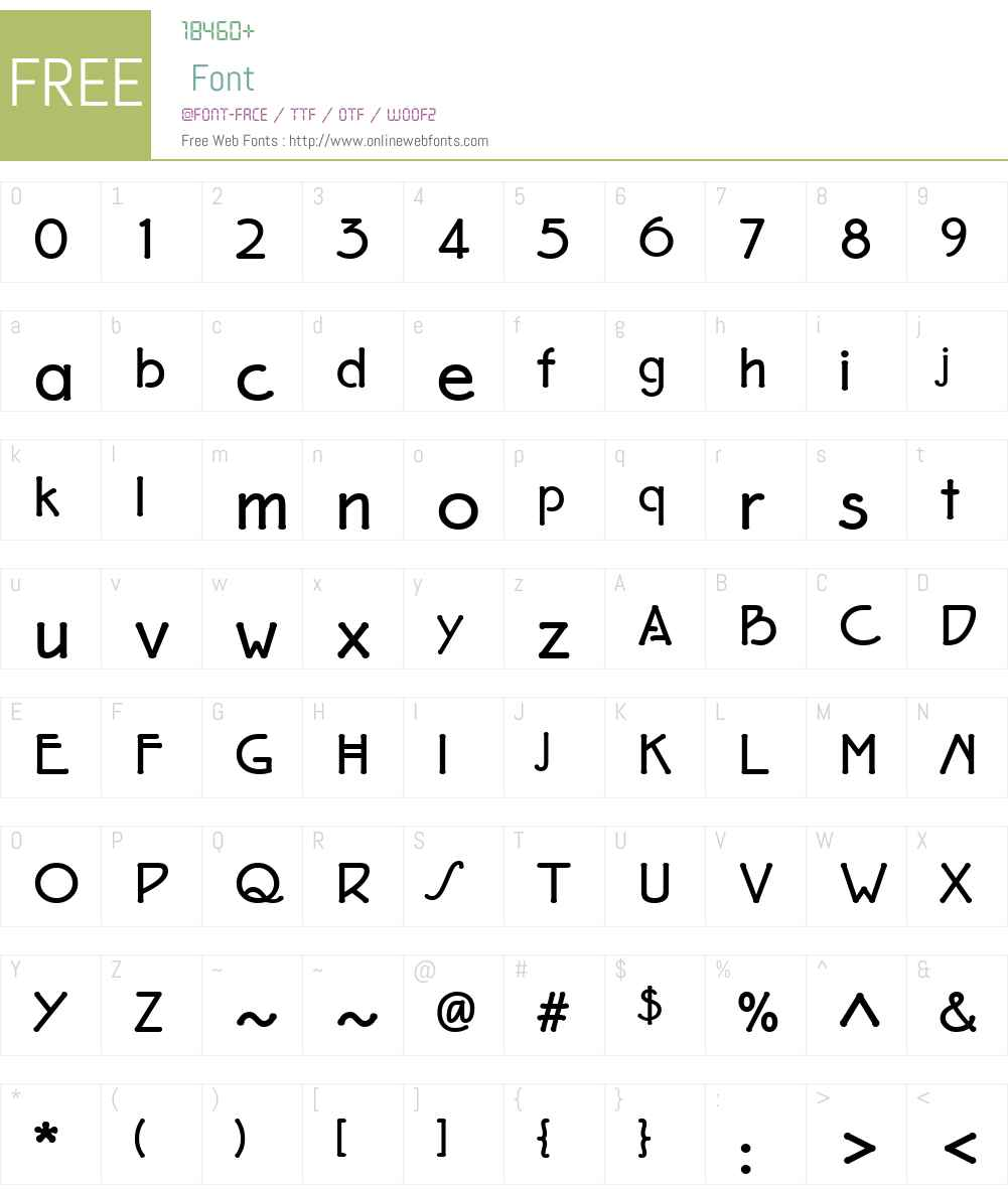 EaglefeatherFormalBold Font Screenshots