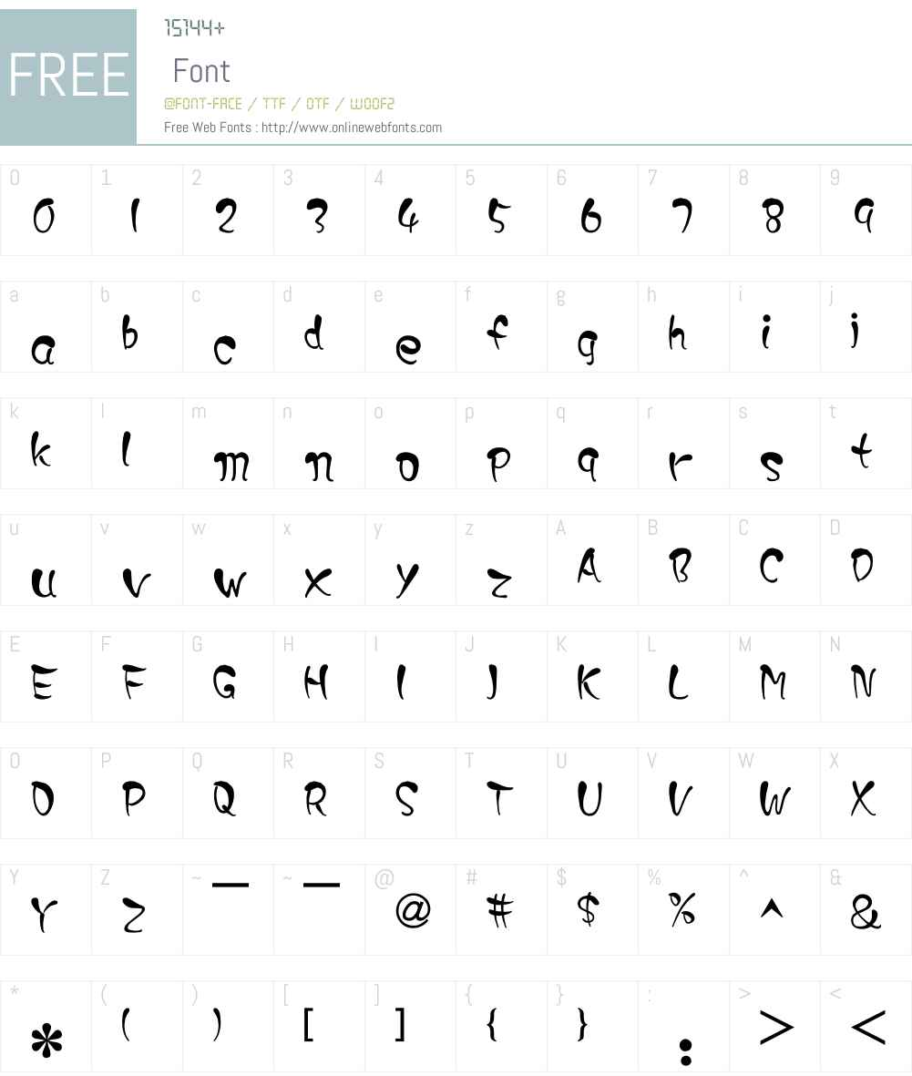 DaiYu Font Screenshots
