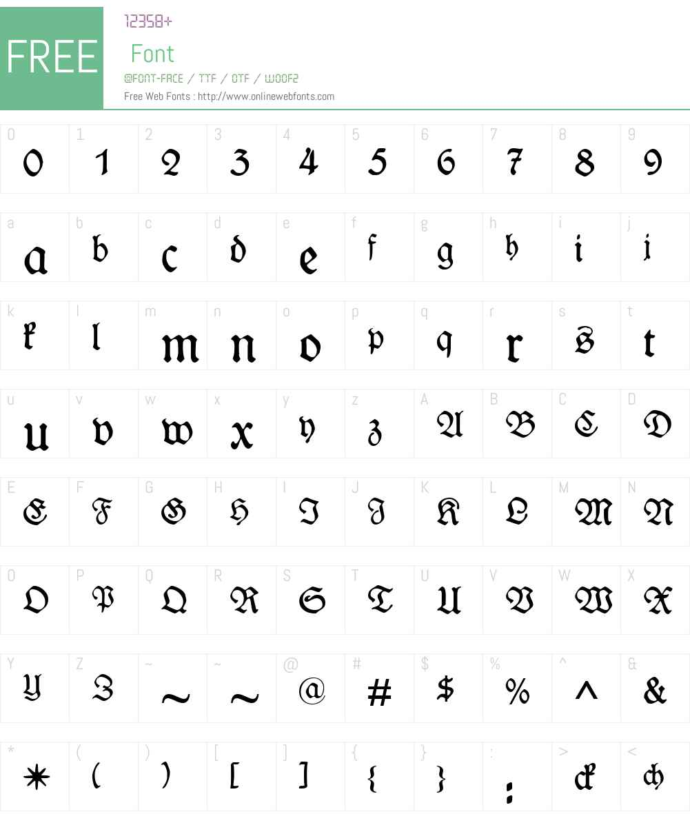 WieynkFraktur Font Screenshots