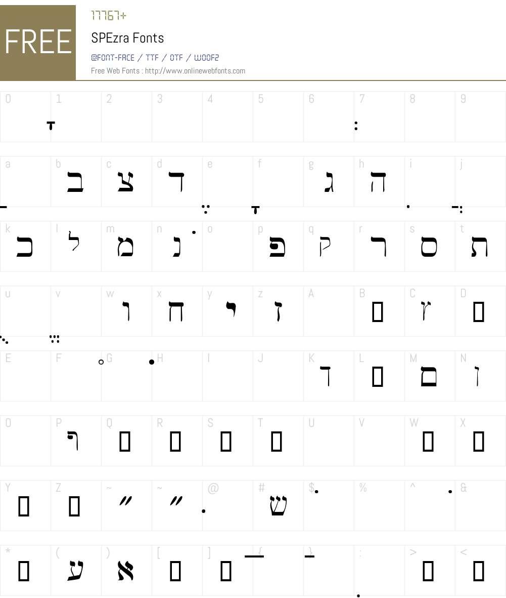 SPEzra Font Screenshots