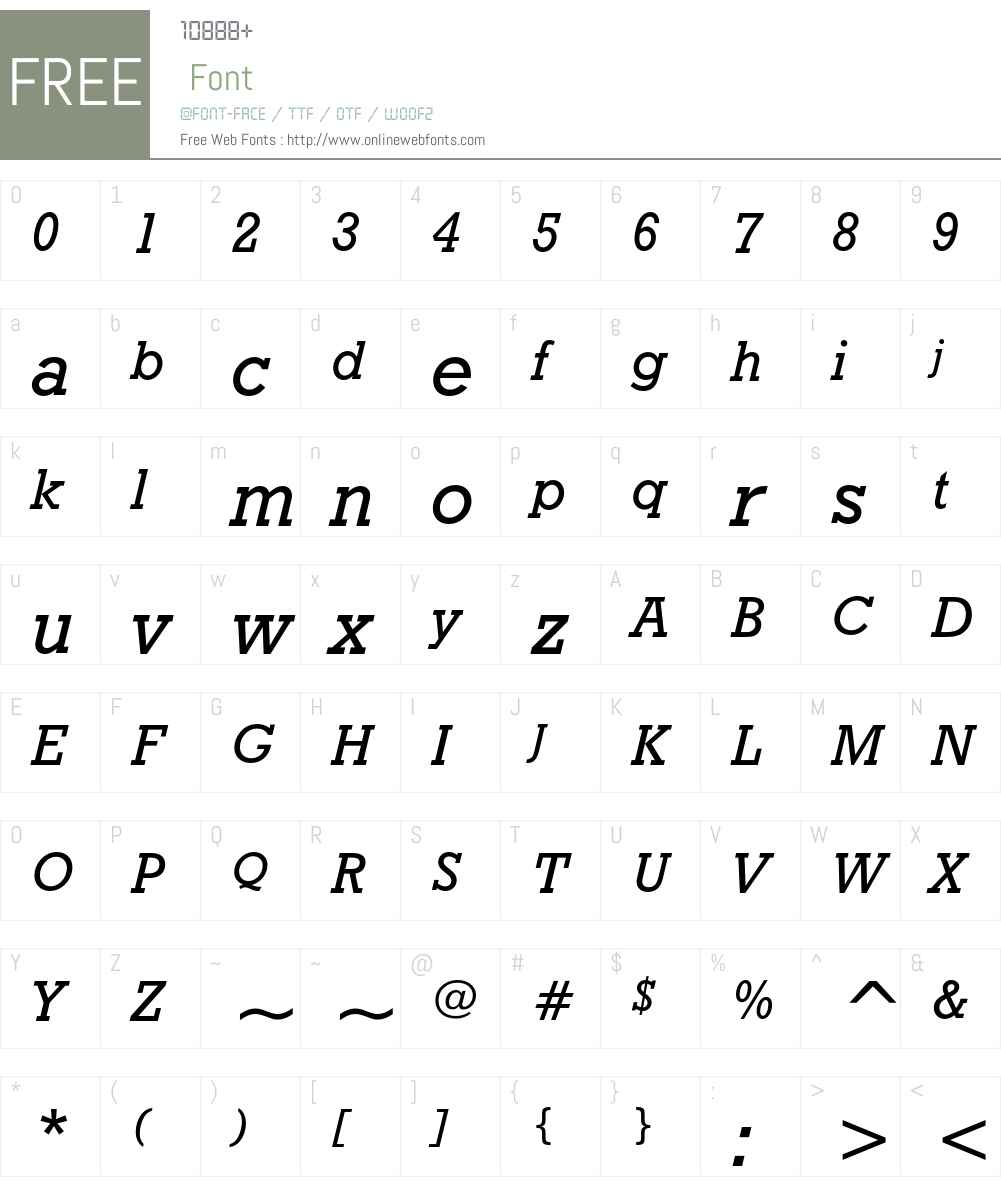 Geometric Slabserif 712 Font Screenshots