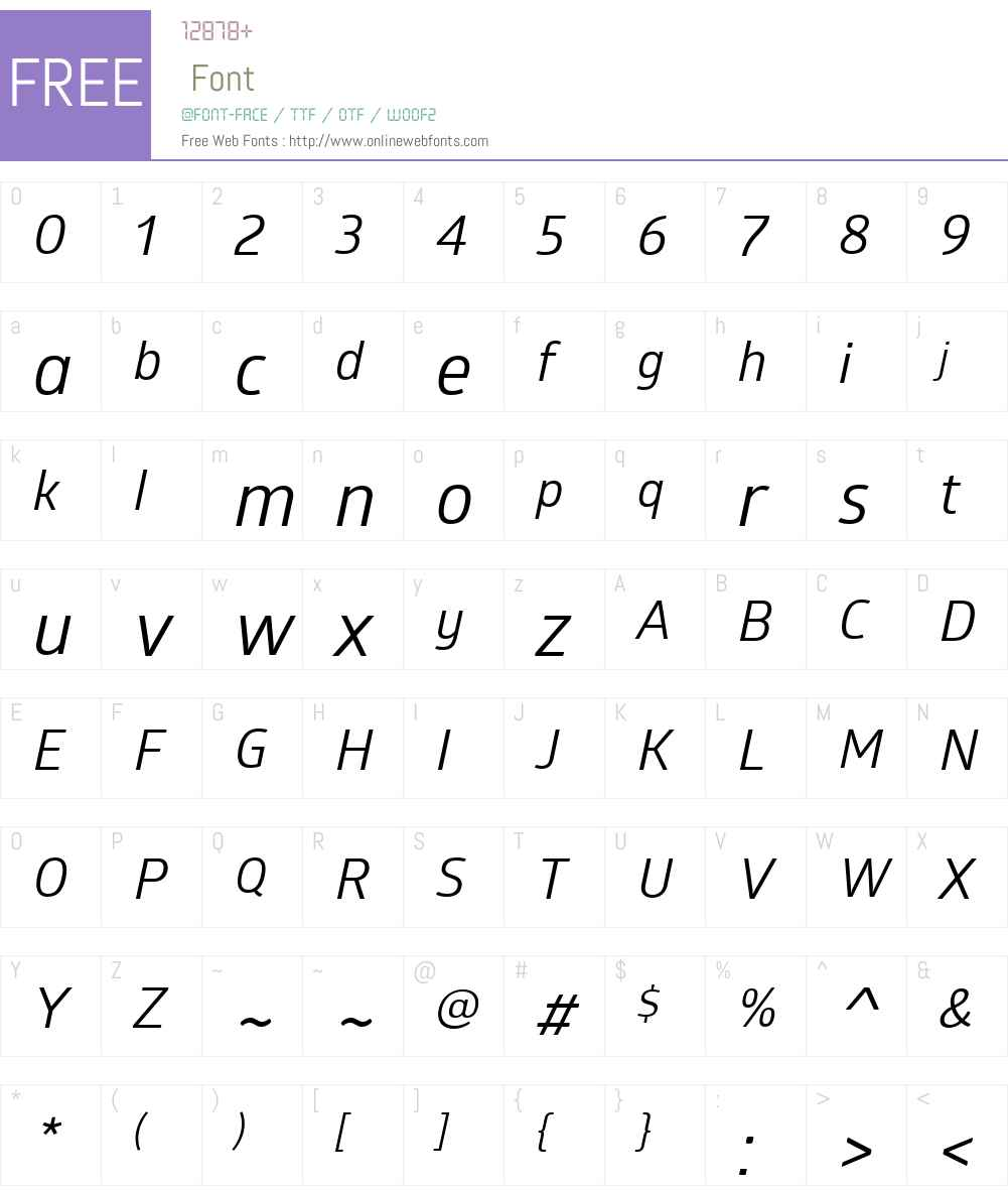 GloberW01-RegularItalic Font Screenshots