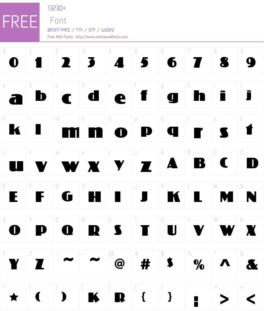KolossEF Font Screenshots