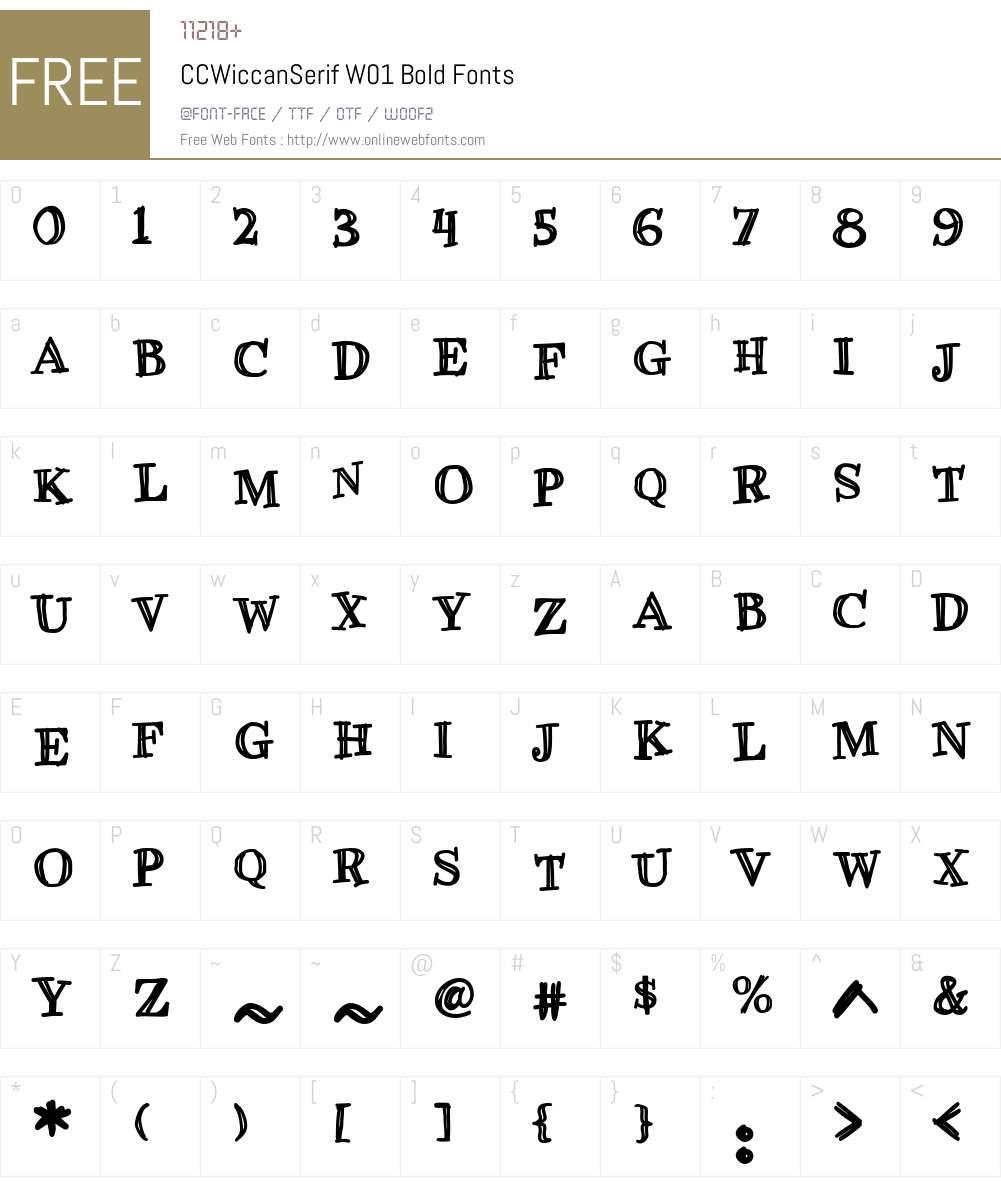 CCWiccanSerifW01-Bold Font Screenshots