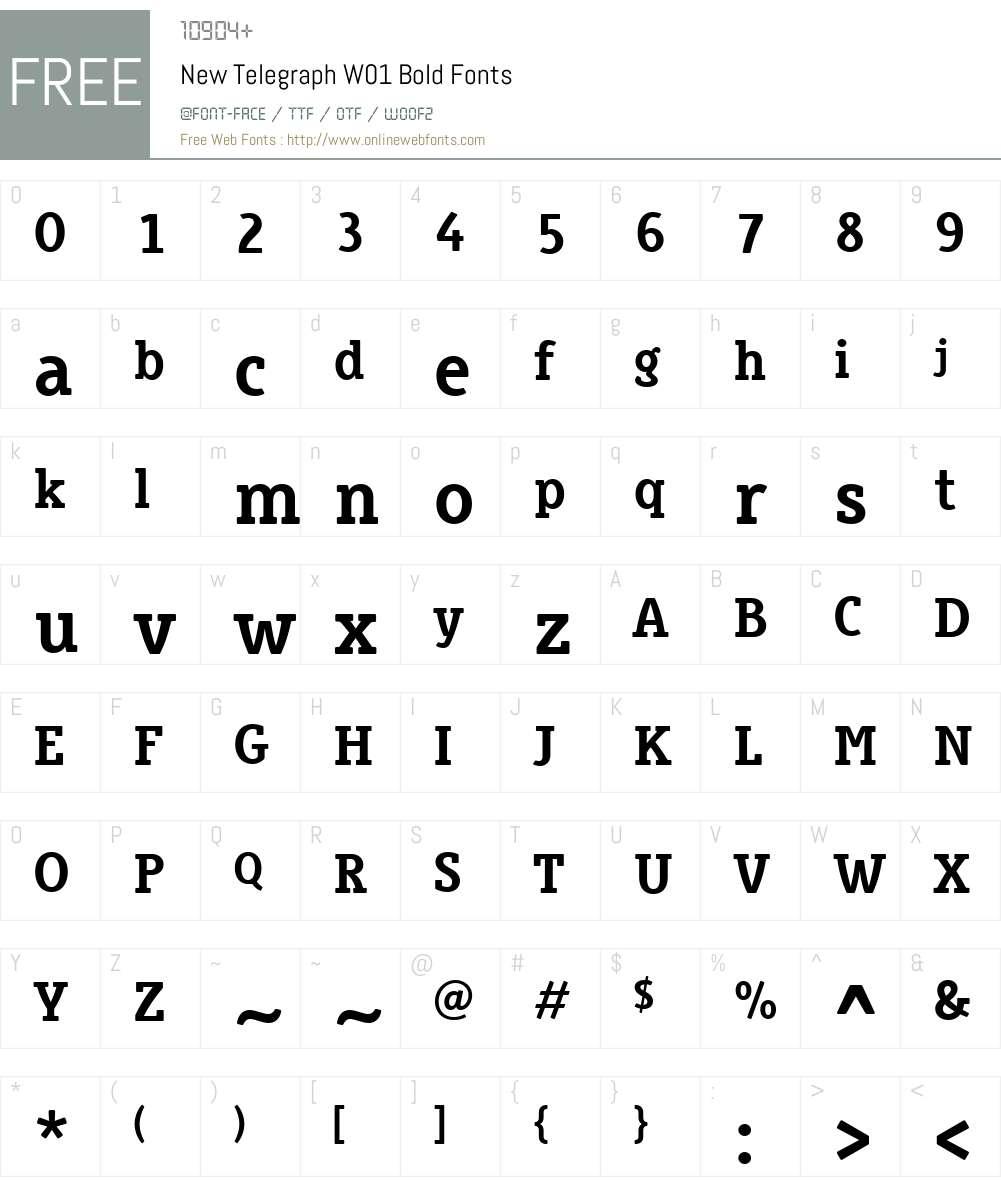 NewTelegraphW01-Bold Font Screenshots