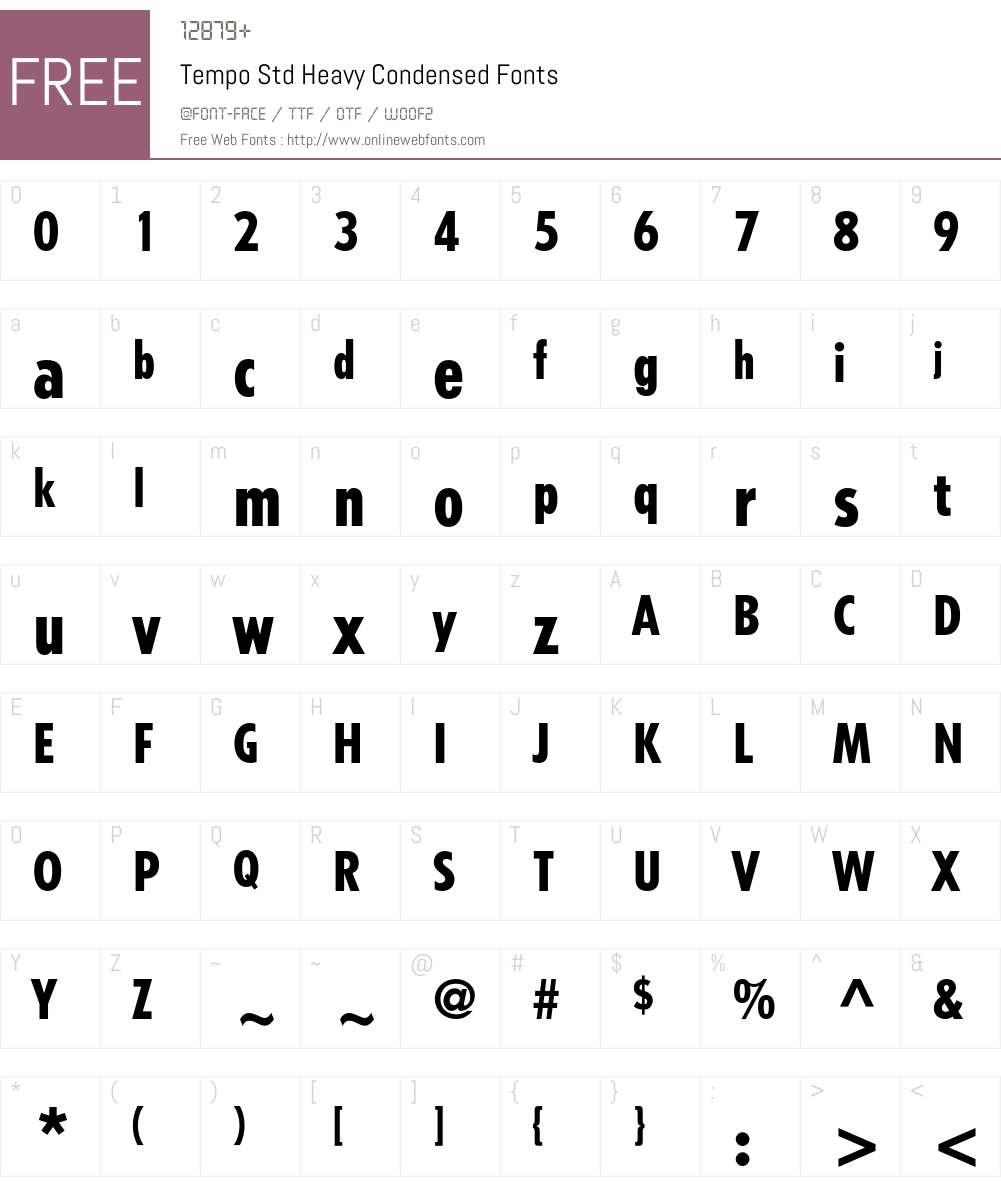 Tempo Std Font Screenshots