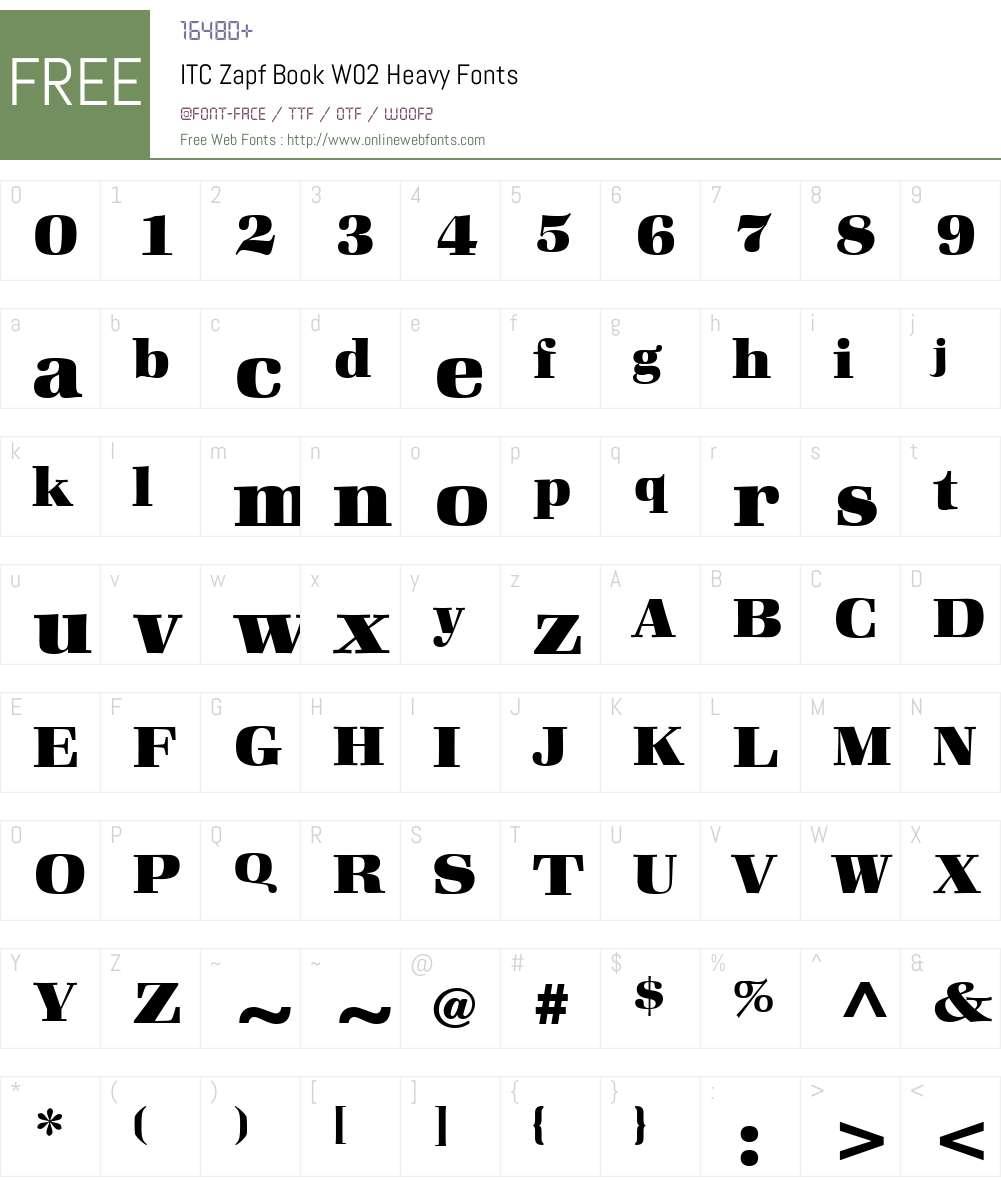 ITC Zapf Book Font Screenshots