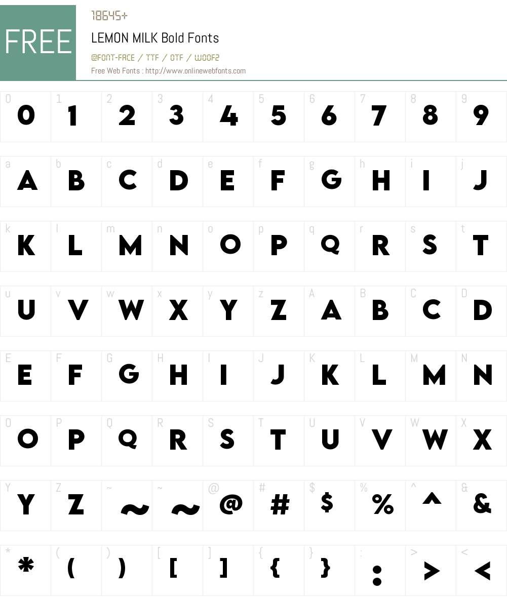 LEMON MILK Bold Font Screenshots