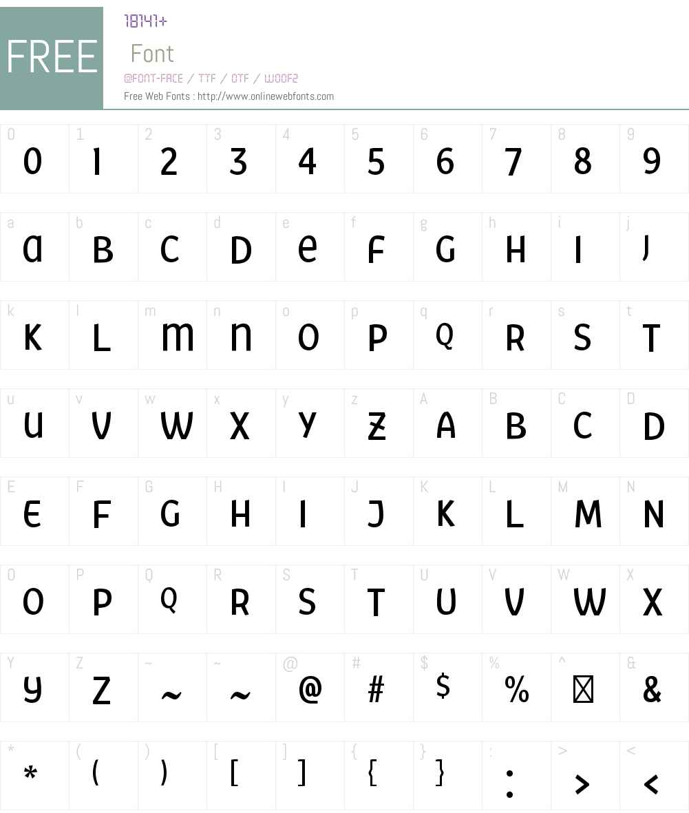 FairSansW00-MediumCondensed Font Screenshots