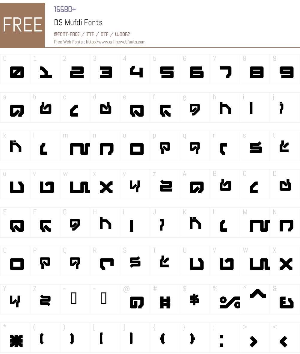 DS Mufdi Font Screenshots