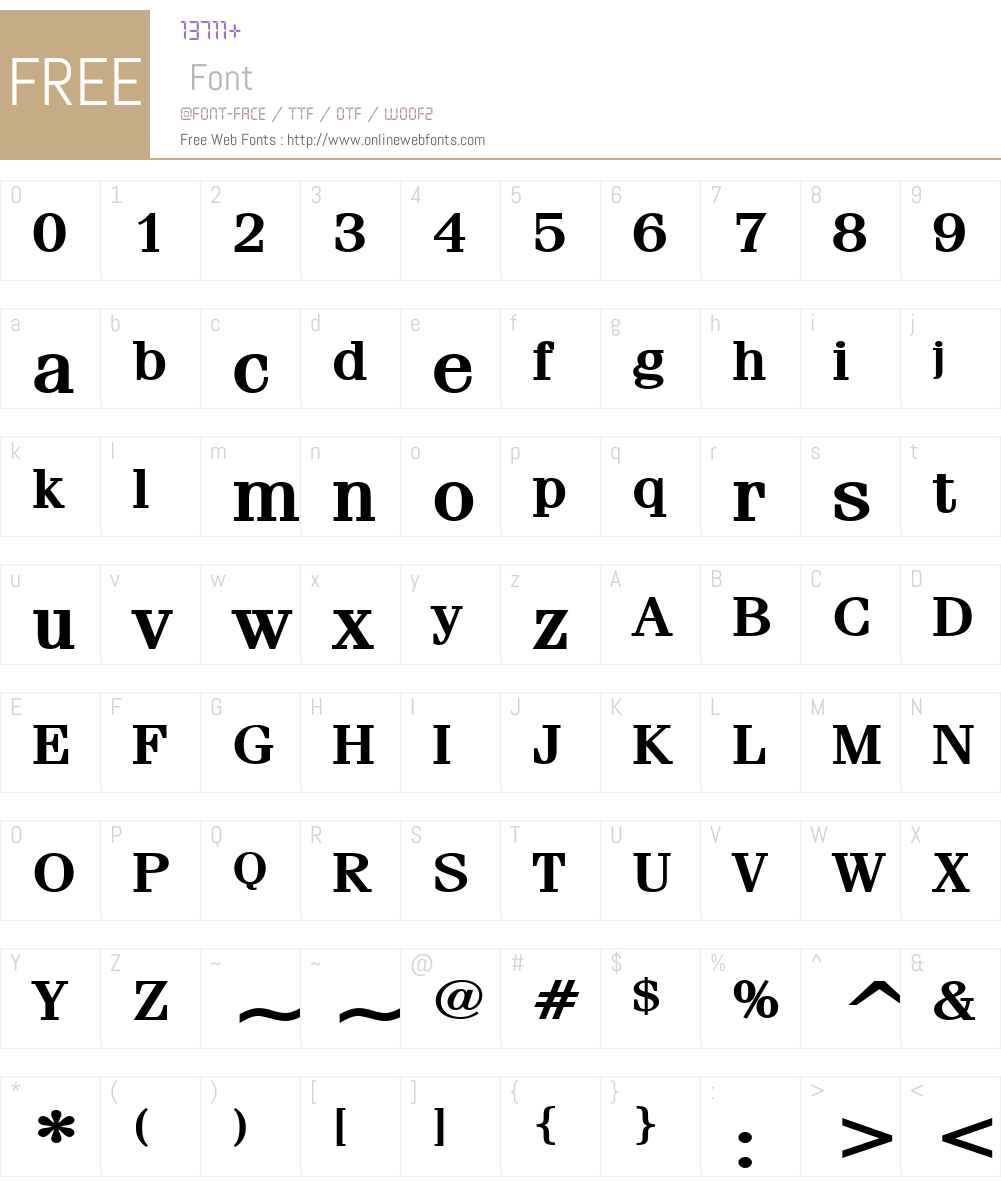 Feline Wide Font Screenshots
