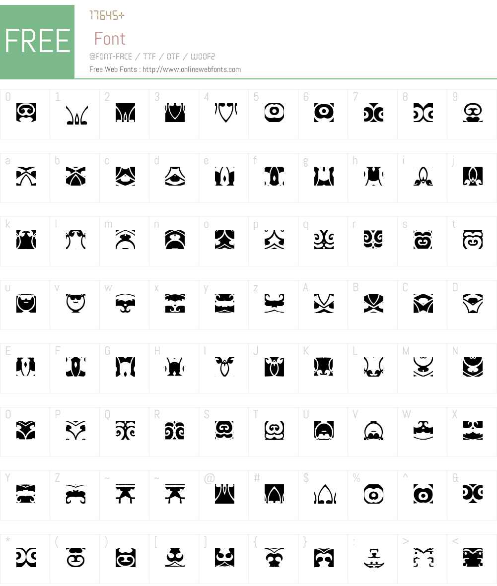 AnnDeco3 Font Screenshots