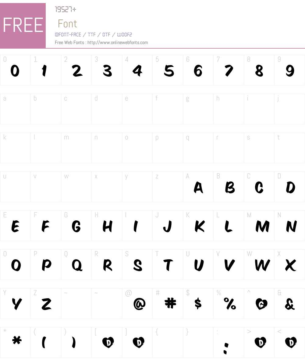 GeeWhiz Font Screenshots