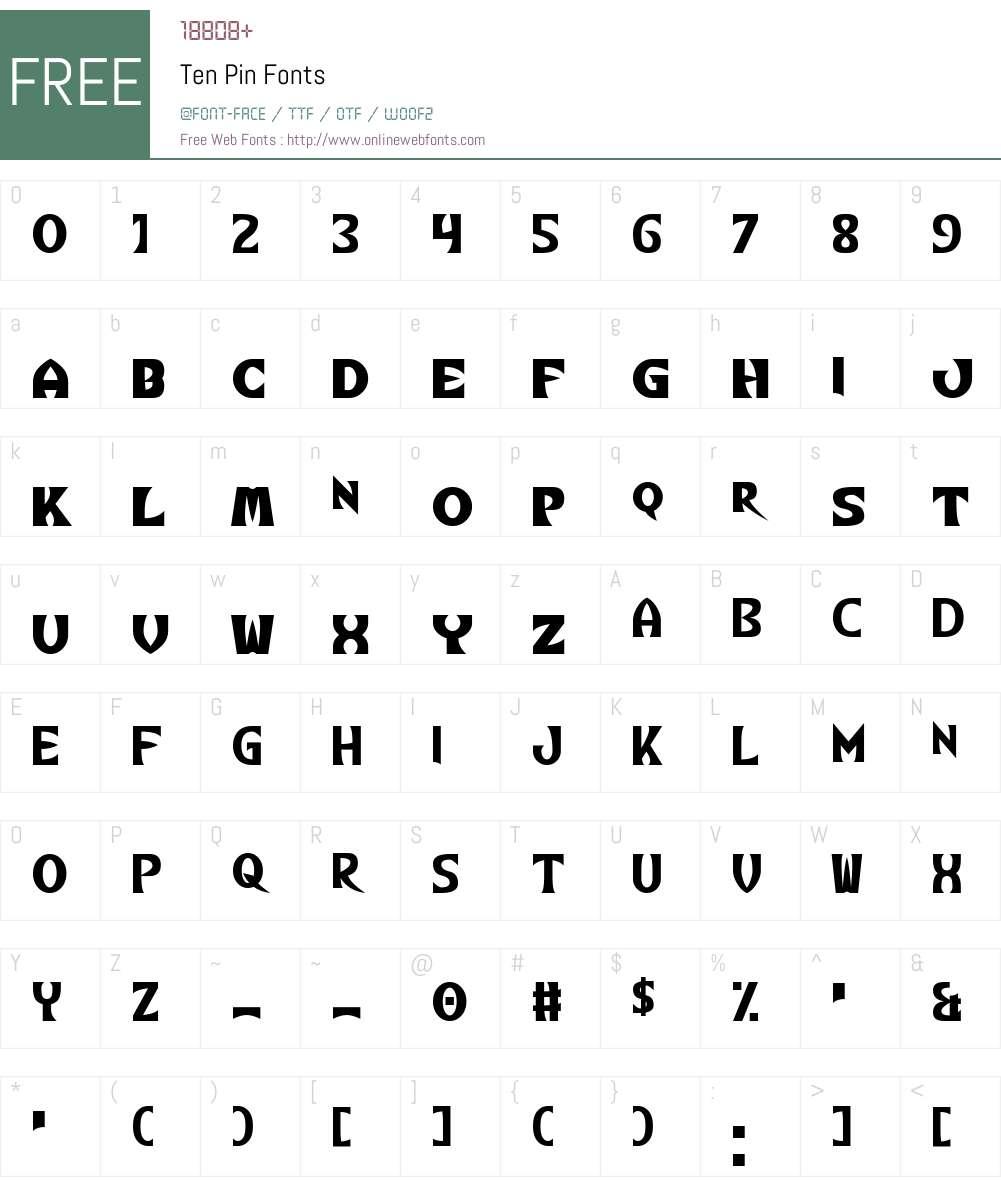 Ten Pin Font Screenshots