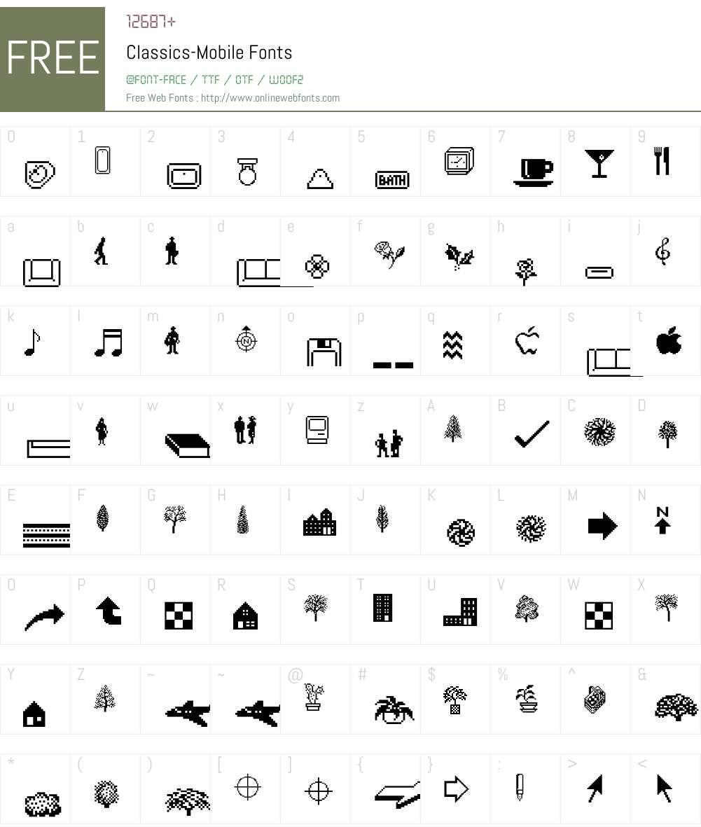 Classics Font Screenshots