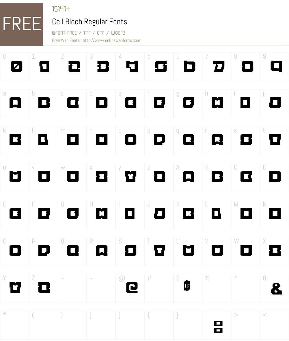 Cell Bloch Font Screenshots