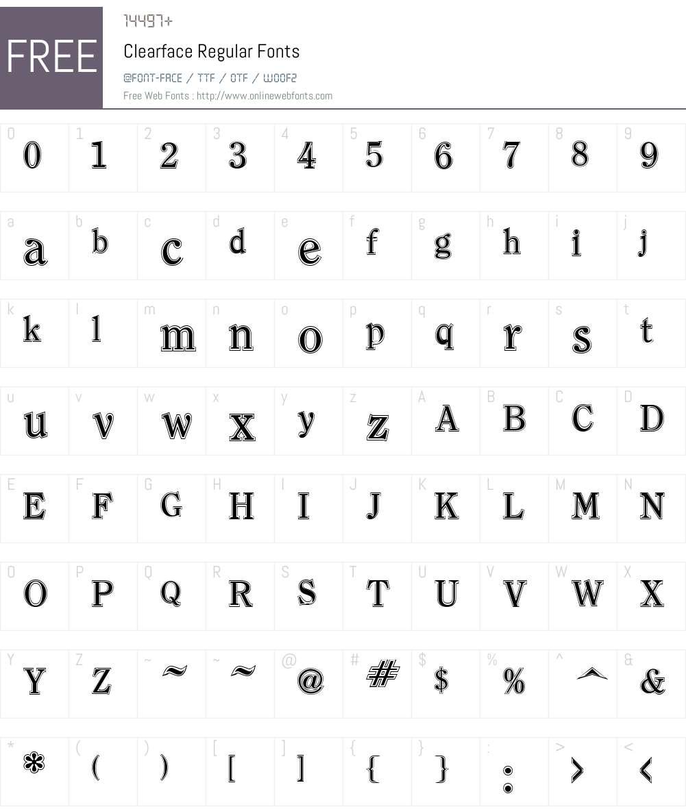 Clearface Font Screenshots