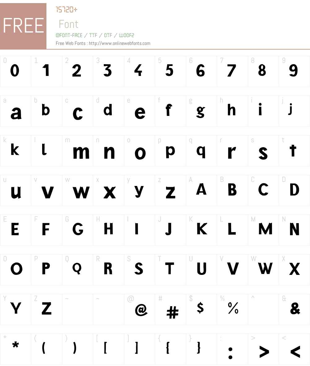 BarackW00-Bold Font Screenshots