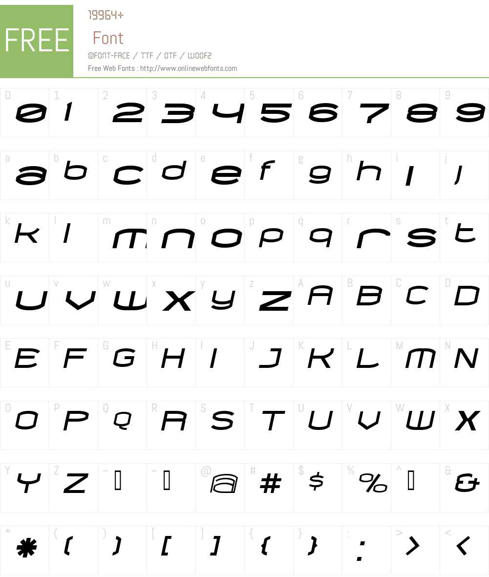 ChordBlackItalic Font Screenshots