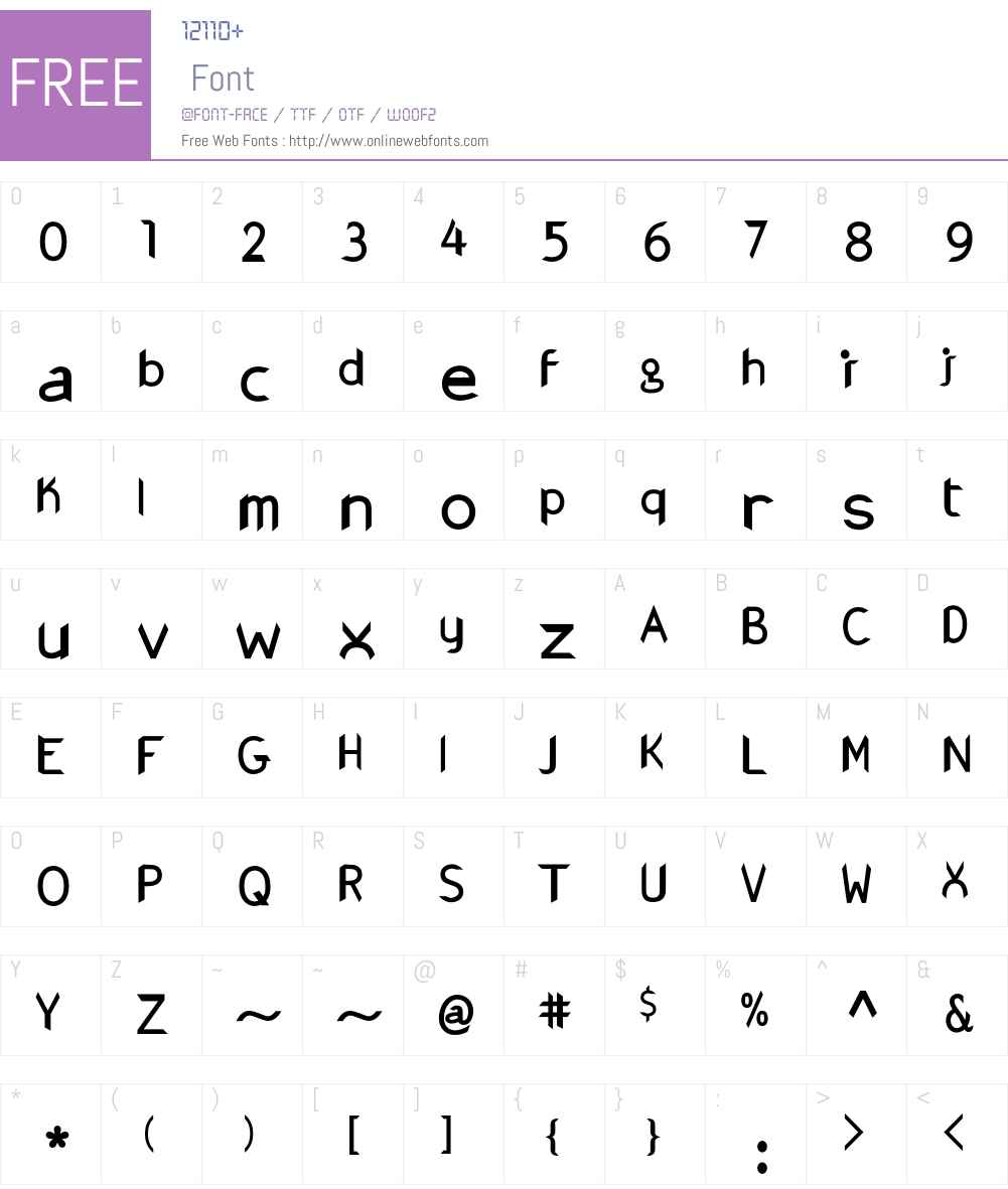 Gonza Font Screenshots