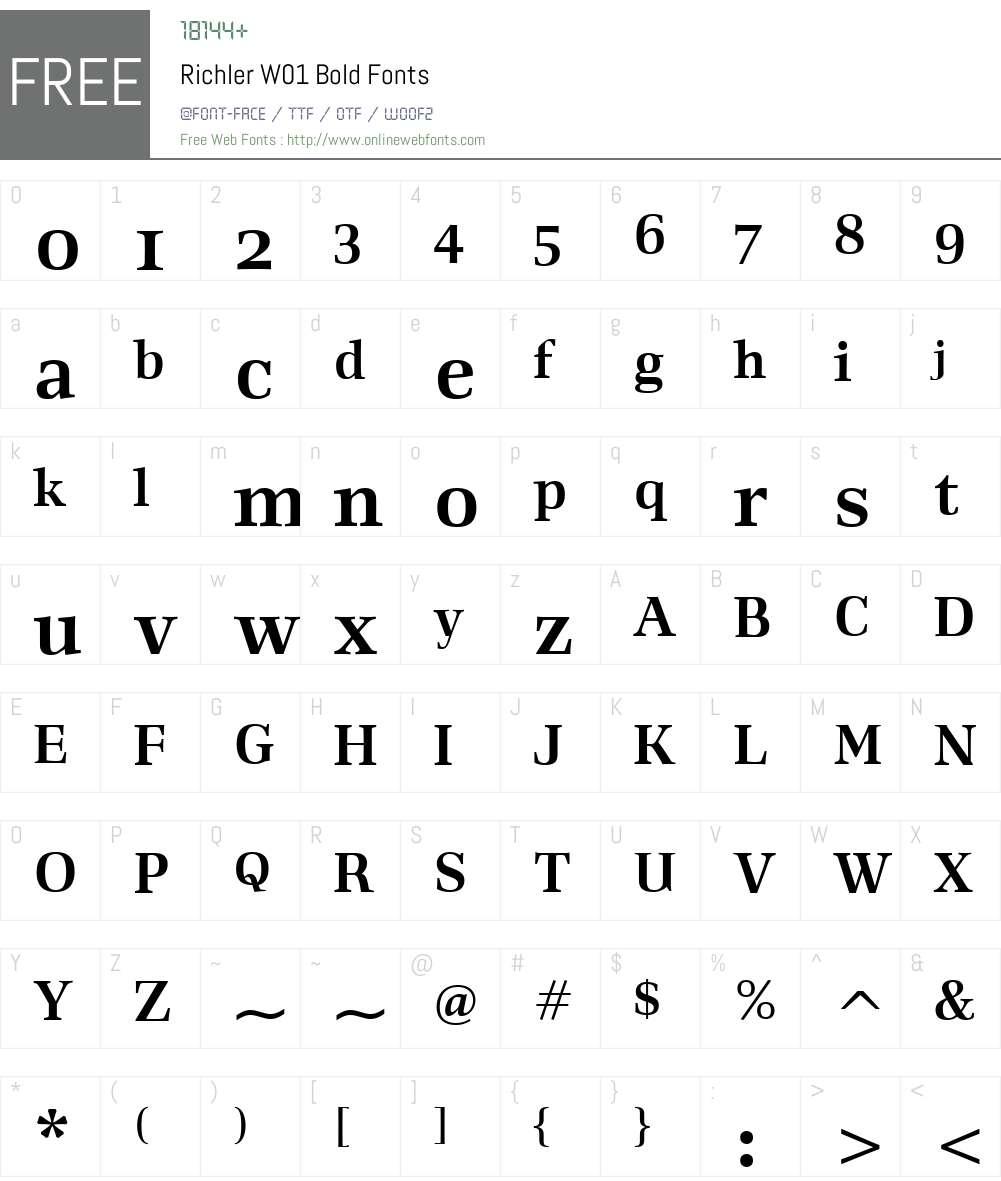 RichlerW01-Bold Font Screenshots