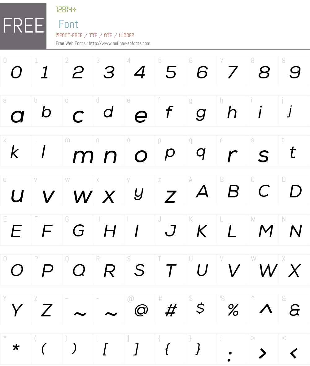 NexaW01-RegularItalic Font Screenshots