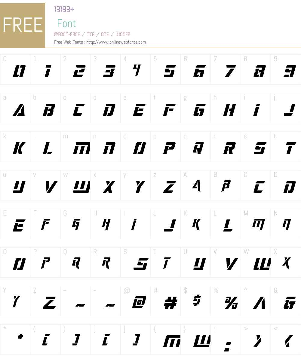 Deceptibots Title Italic Font Screenshots