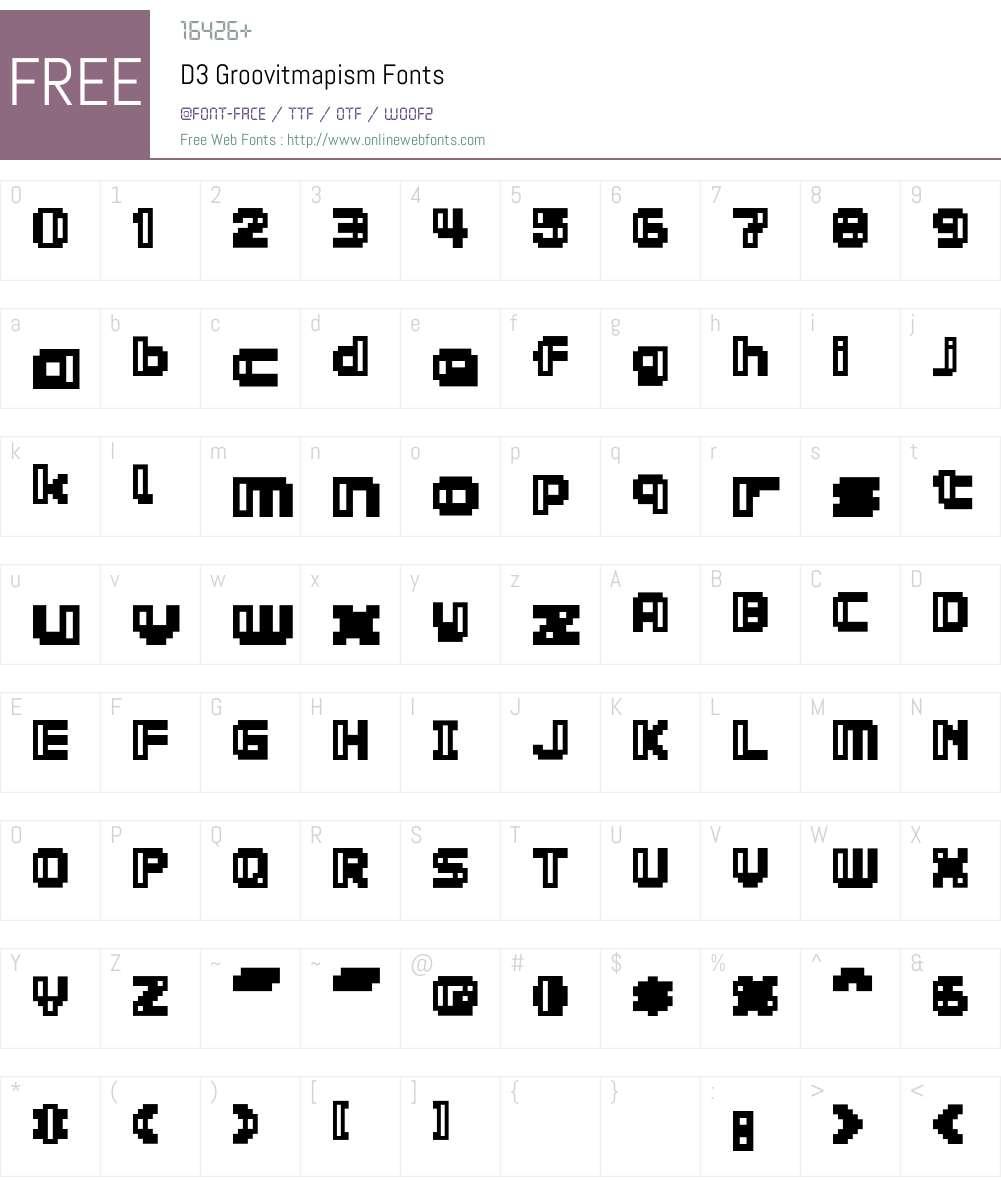 D3 Groovitmapism Font Screenshots