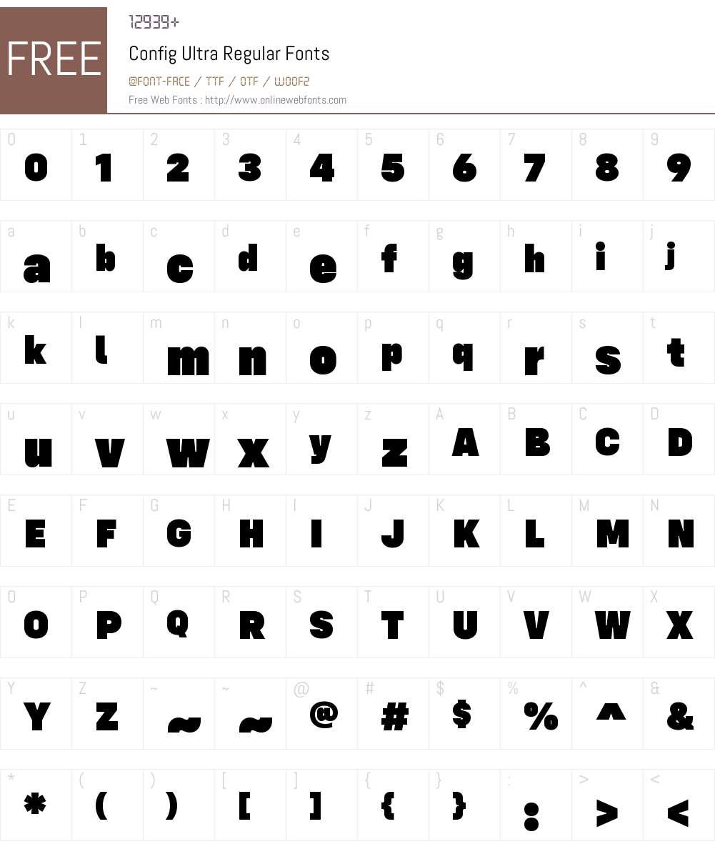 Config Ultra Font Screenshots