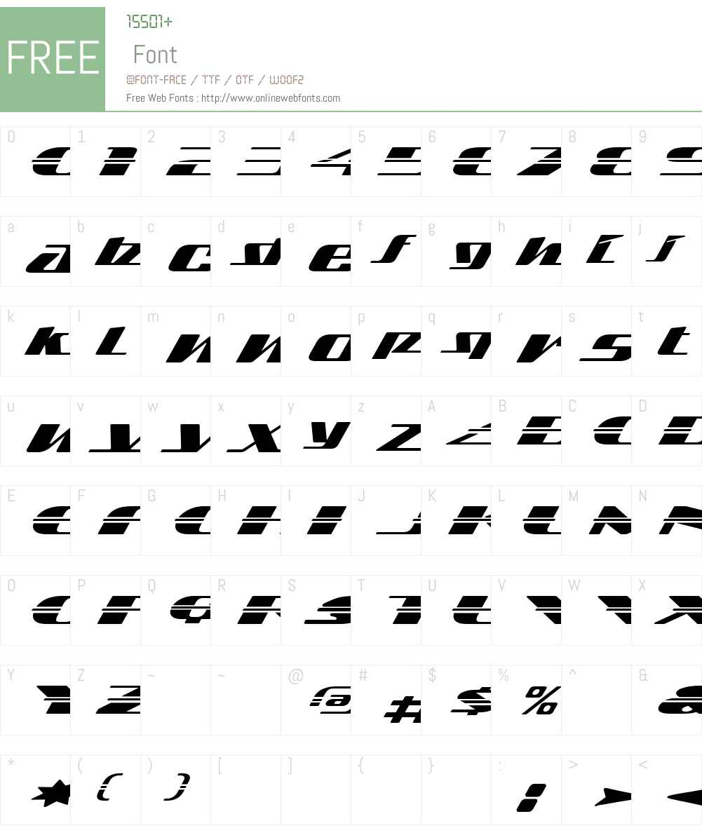Sandoval Speed Font Screenshots