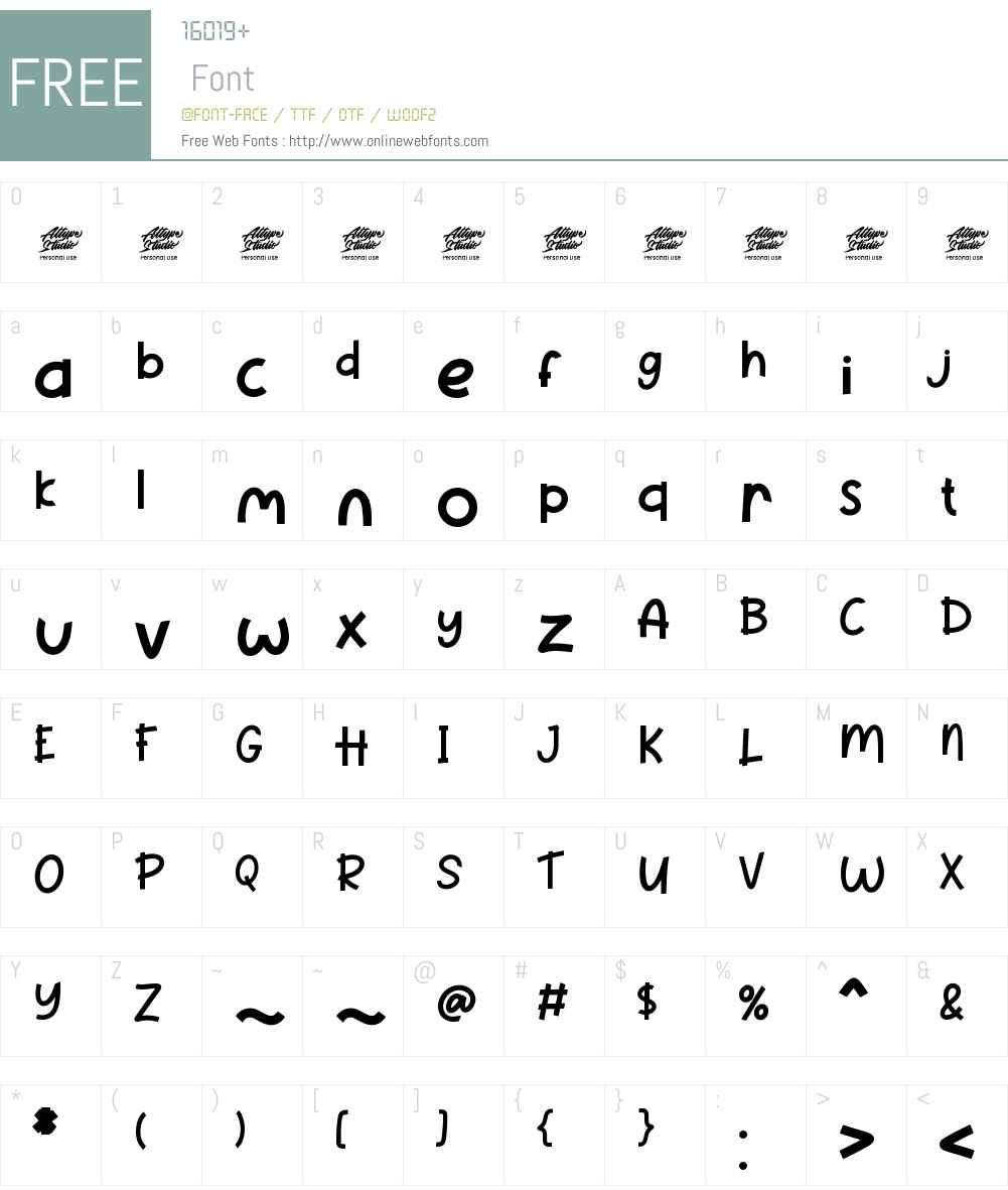 Pineapple Party - Personal use Font Screenshots