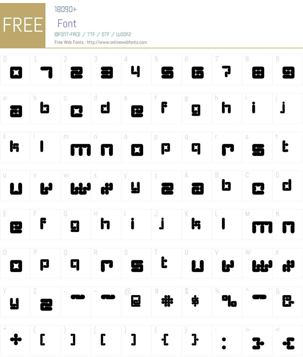 Architype Catalogue Solid Font Screenshots