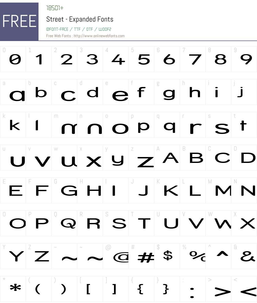 Street - Expanded Font Screenshots