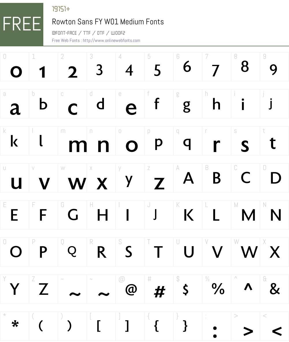 RowtonSansFYW01-Medium Font Screenshots