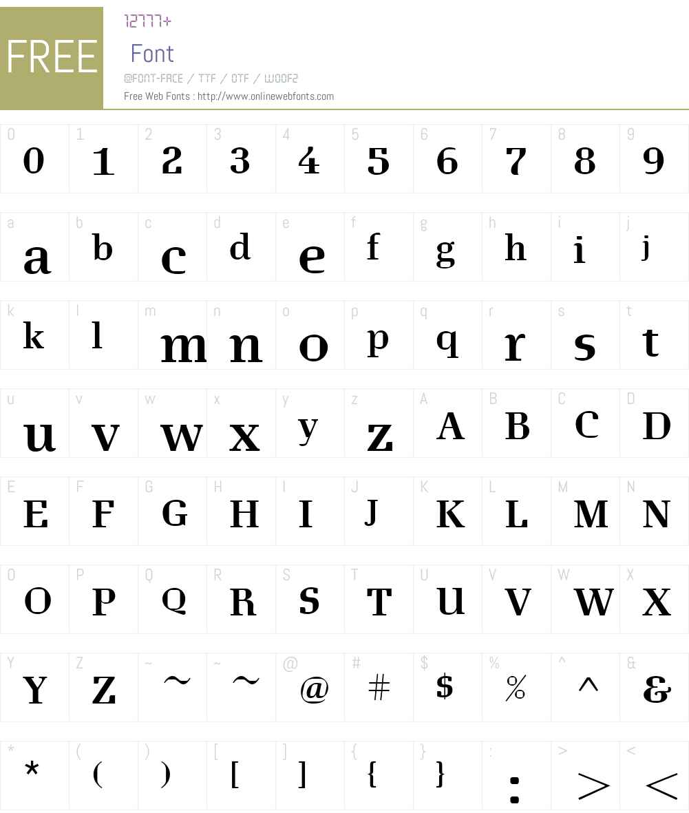 EuclidesW00-Bold Font Screenshots