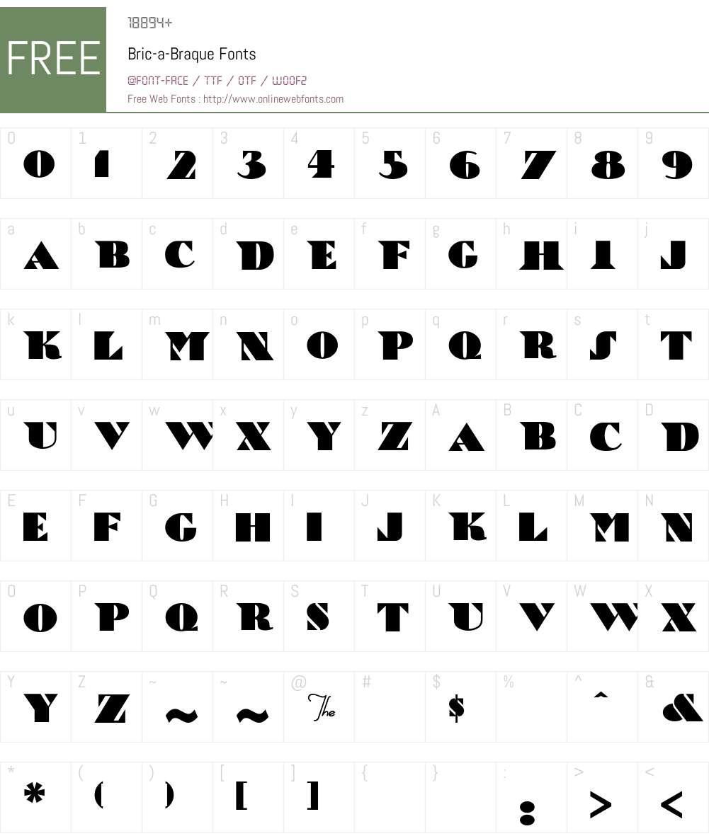 Bric-a-Braque Font Screenshots