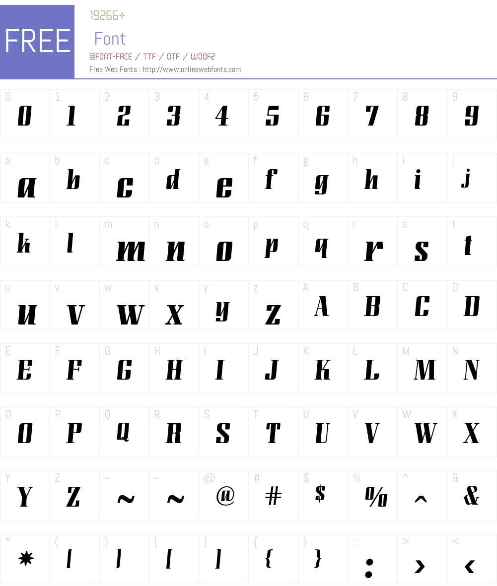 LundaModern Font Screenshots