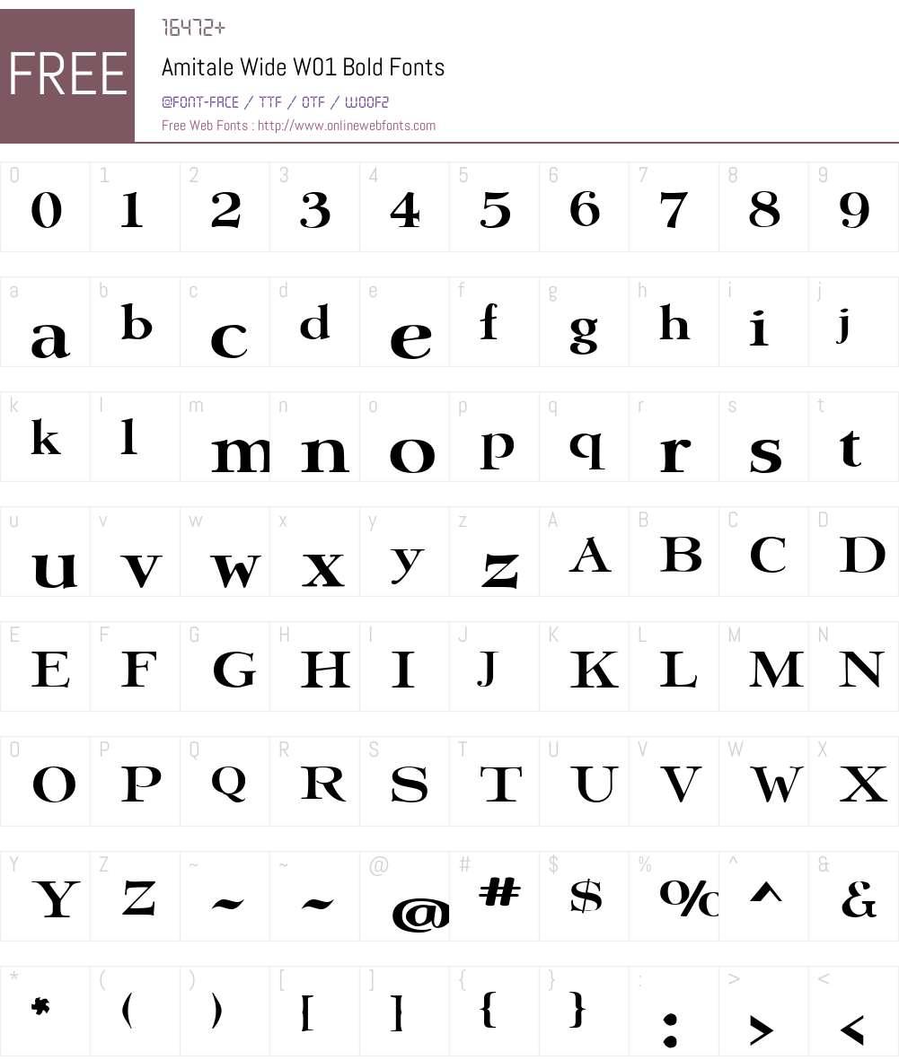 AmitaleWideW01-Bold Font Screenshots