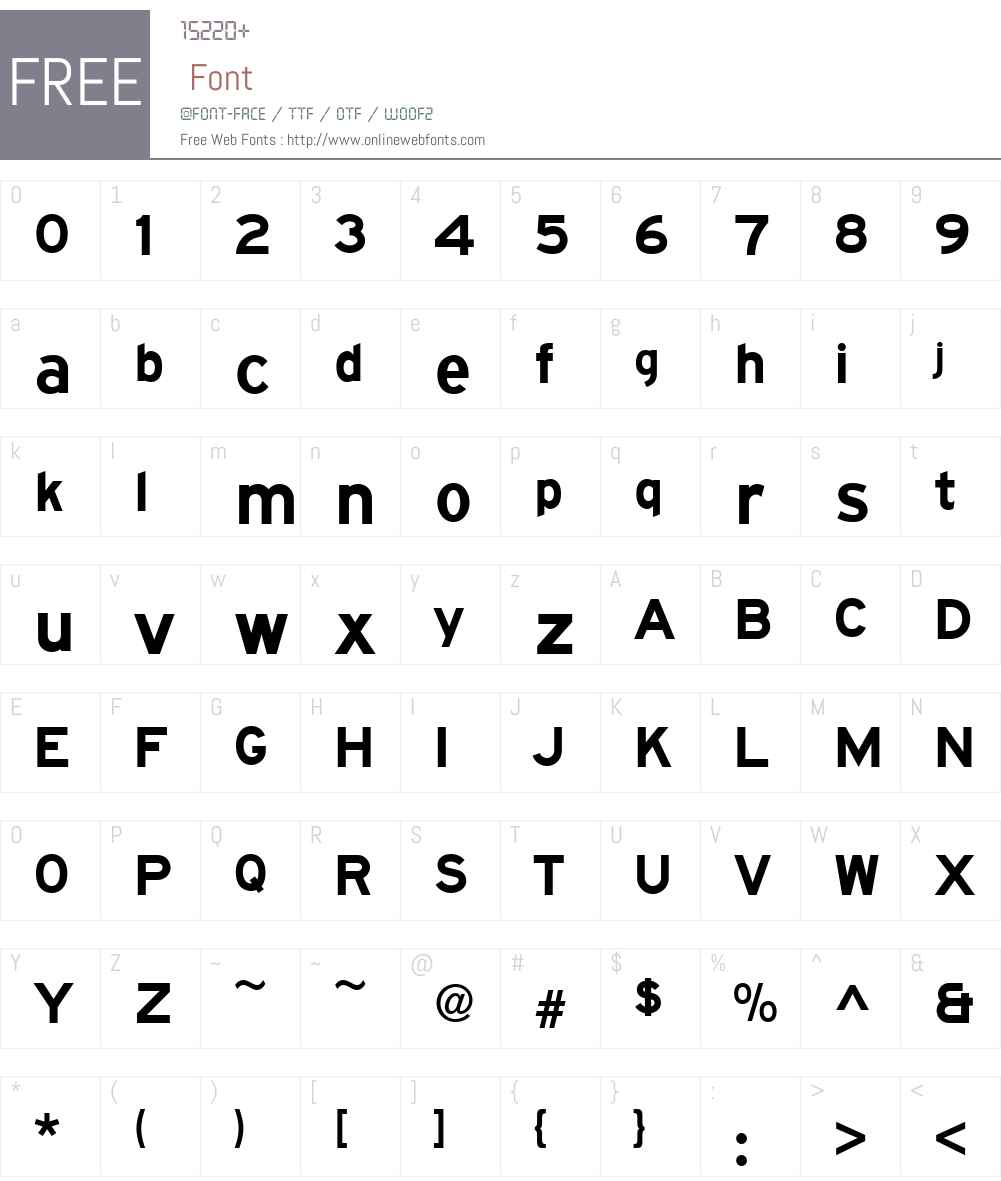 SAASeriesW01-EMD Font Screenshots