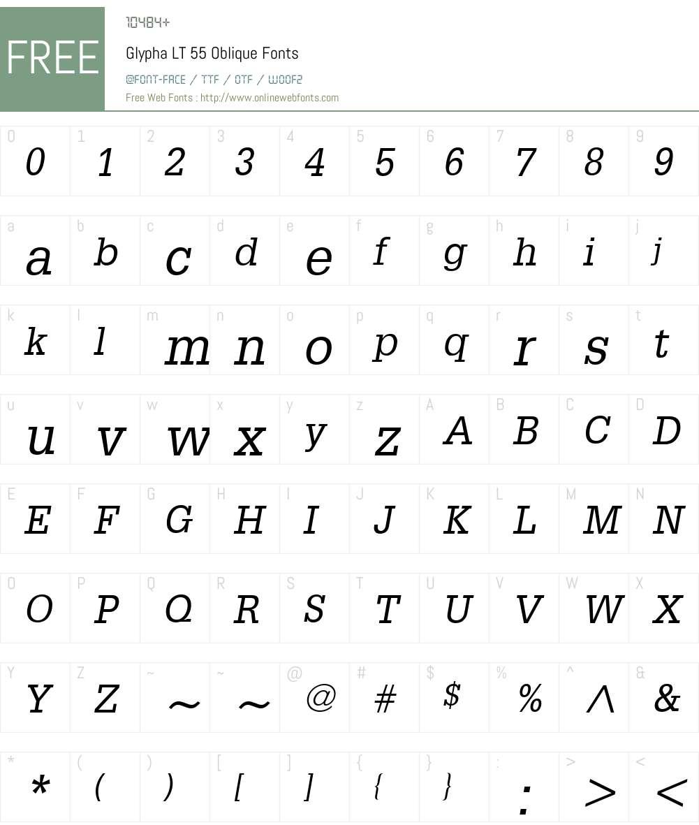 Glypha LT Font Screenshots