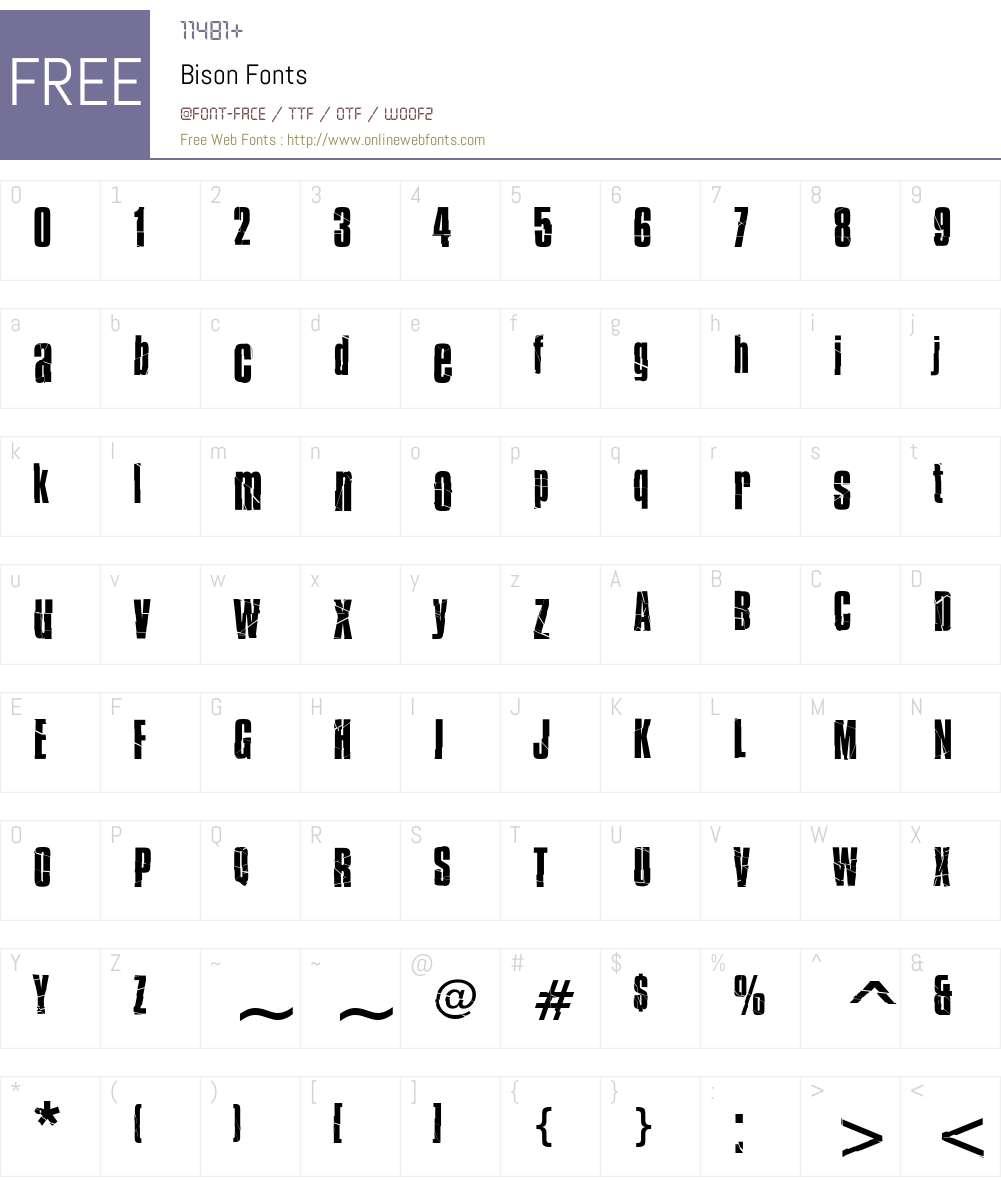 Bison Font Screenshots