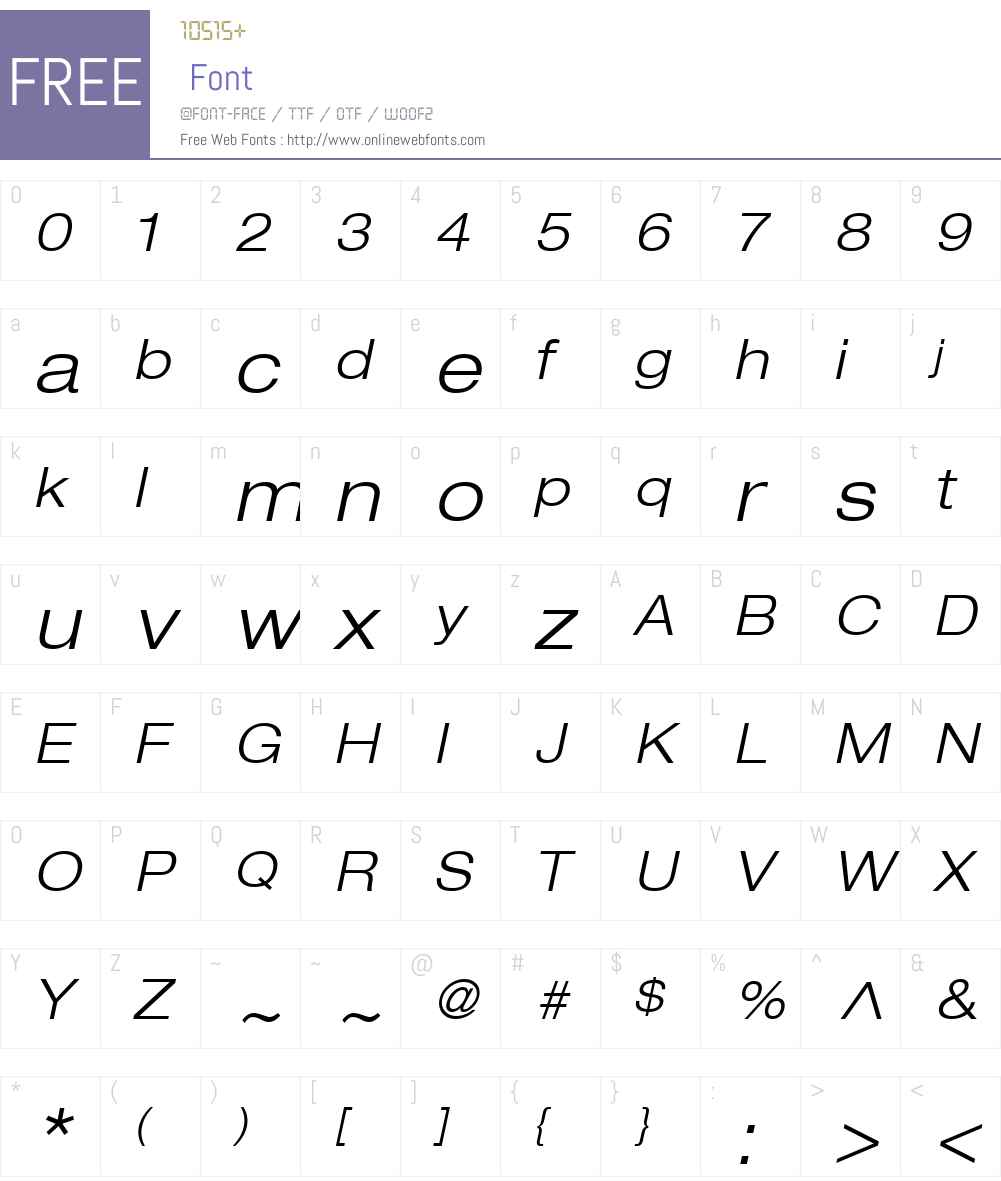 HelveticaNeue LT 43 LightEx Font Screenshots