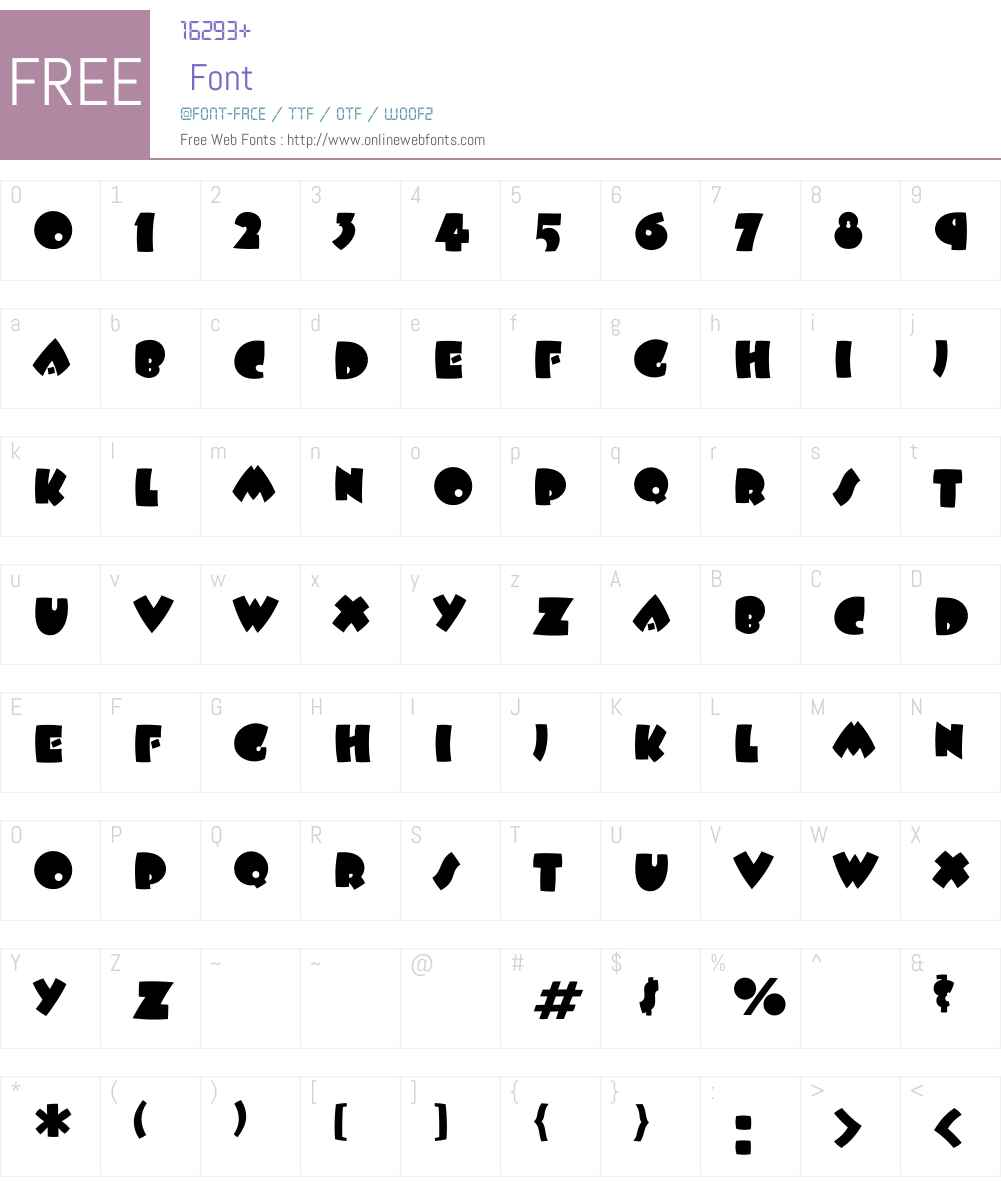 BeeskneesC Font Screenshots