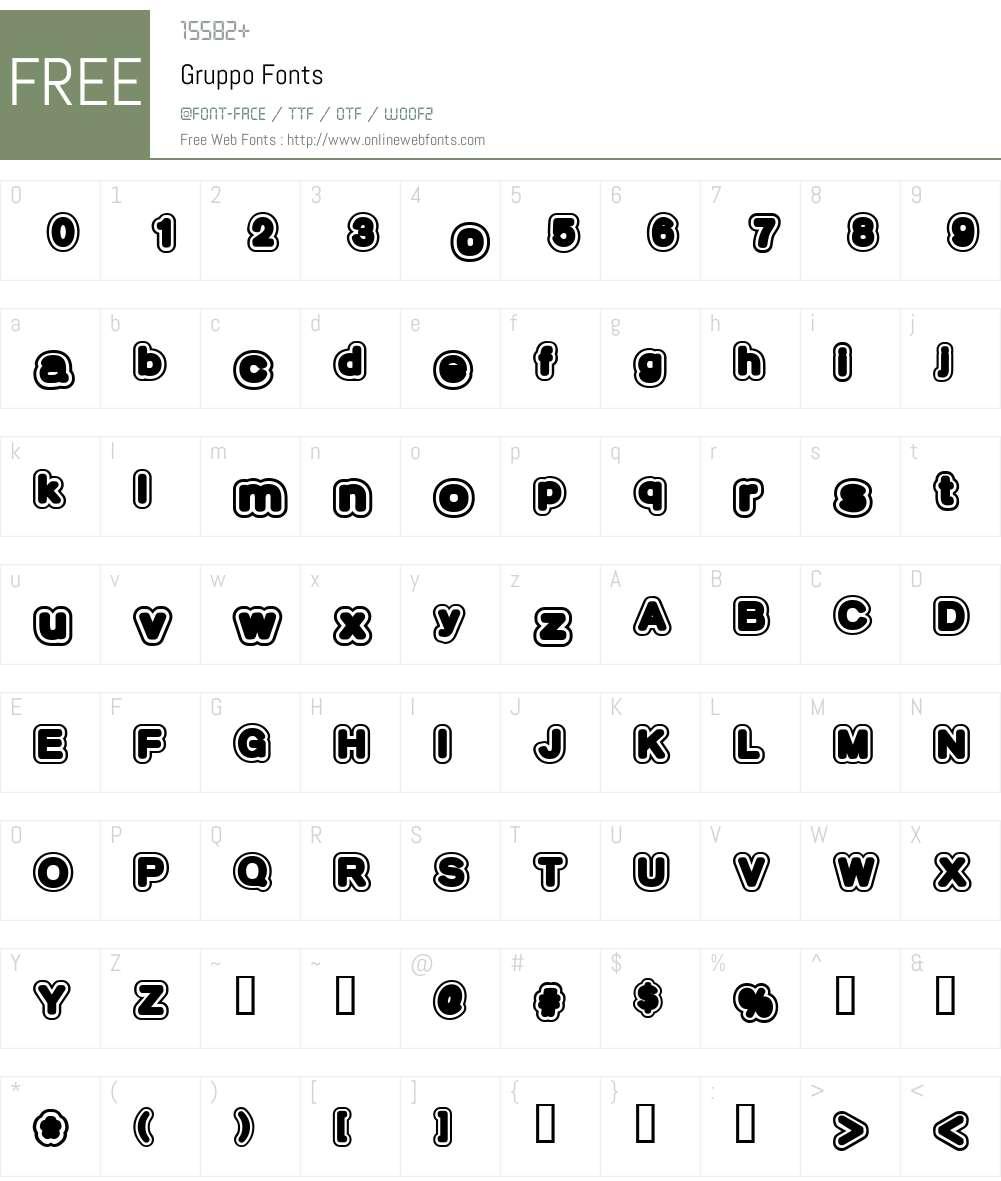 Gruppo Font Screenshots