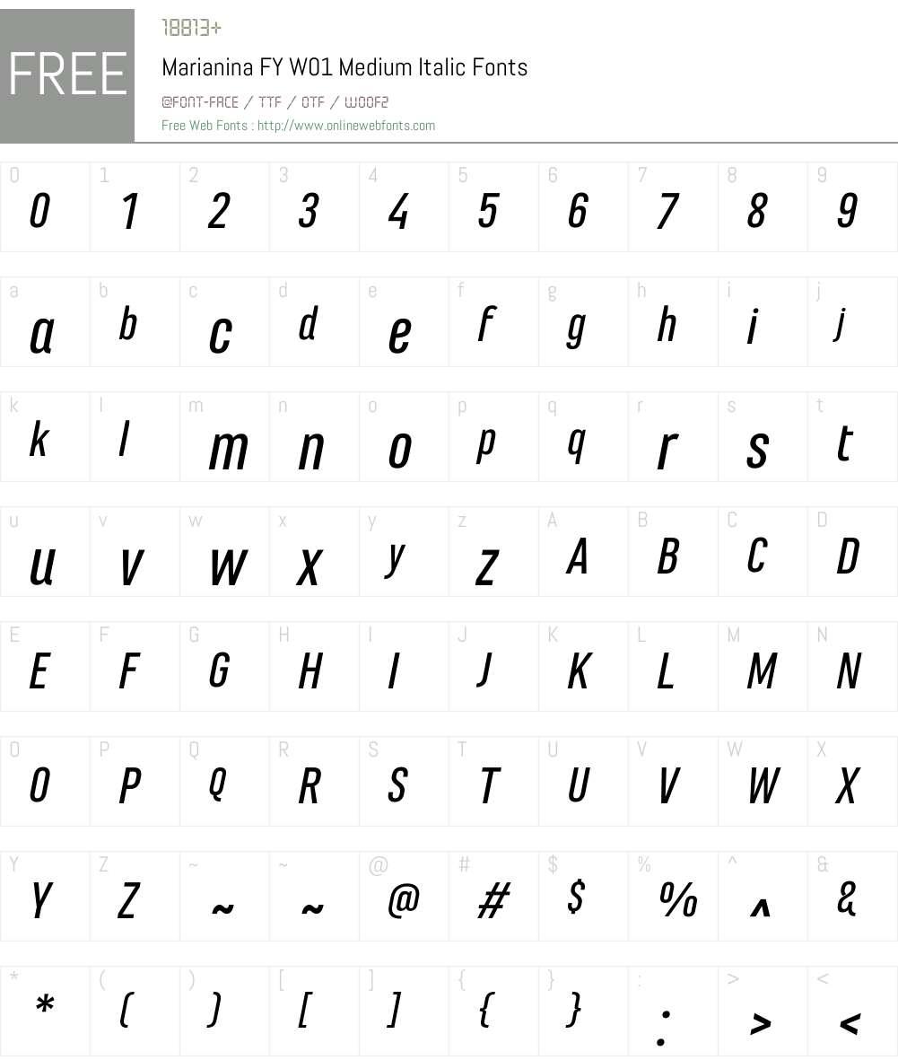 MarianinaFYW01-MediumIt Font Screenshots